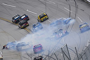 NASCAR Truck Breaking news Nemechek narrowly escapes elimination from Truck playoffs at Talladega