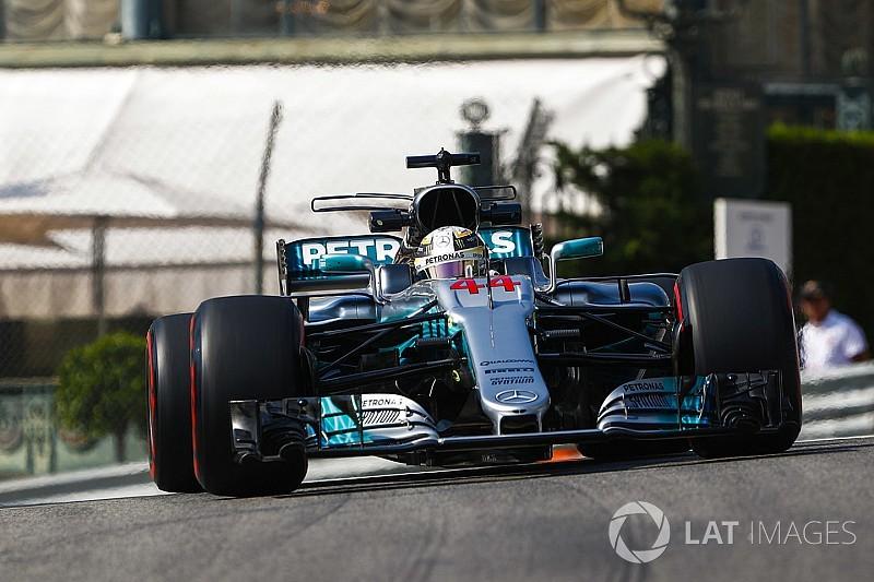 【F1モナコGP】FP1:首位ハミルトン。0.1秒差で2番手のベッテル