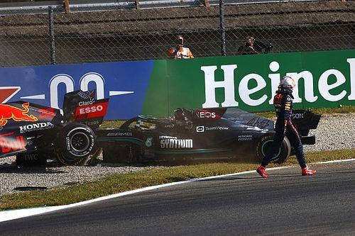 Sanción para Verstappen por el choque con Hamilton en Monza