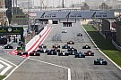 FIA F2 Race starts