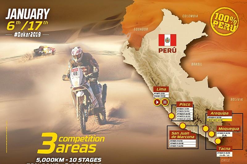 Die Route und die Neuerungen der Rallye Dakar 2019