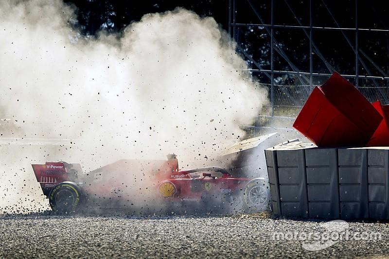 Video: Vettel'in testlerde yaptığı kazanın görüntüsü ortaya çıktı