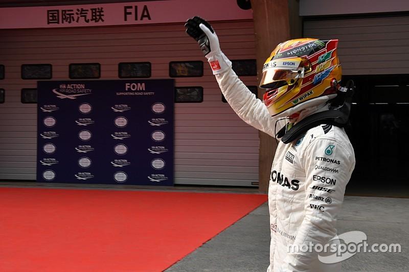 هاميلتون يكسر الزمن القياسي في الصين وينطلق أوّلًا أمام فيتيل