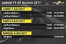 Jadwal lengkap F1 GP Austria 2017