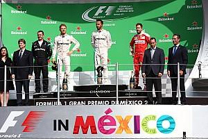 F1 レースレポート メキシコGP決勝タイム速報:ハミルトン2連勝目、再びポール・トゥ・ウィンを決める