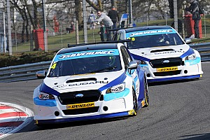 BTCC Race report Croft BTCC: Turkington leads Subaru 1-2 in incident-packed Race 1