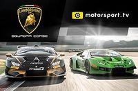 Lamborghini Squadra Corse launches a dedicated channel with Motorsport.tv