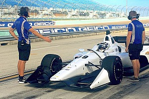 """Carlin """"excited and quite emotional"""" after first IndyCar test"""