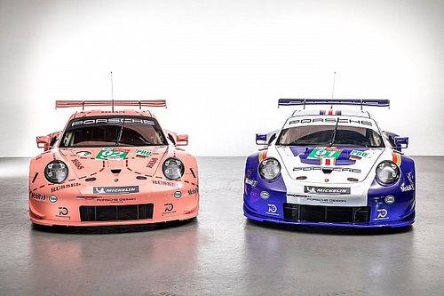 24h Le Mans: Zwei Porsche 911 RSR starten in historischen Designs