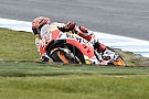 Australian MotoGP: Marquez fastest in wet warm-up