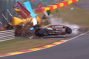 24h Spa: Lamborghini-Horrorcrash im Rahmenprogramm