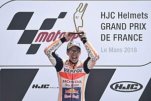 """MotoGP Últimas notícias Vencedor, Márquez destaca triunfo em pista """"ruim"""" para Honda"""