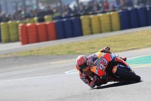 MotoGP Crónica de entrenamientos Márquez lideró el warm up y Zarco tuvo una caída