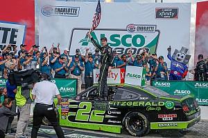 NASCAR XFINITY Race report Brad Keselowski holds off Custer to win Xfinity race at Charlotte