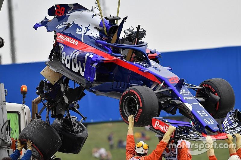 Відео та фото: Хартлі вщент розбив болід Toro Rosso