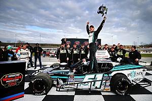 NASCAR Breaking news Justin Bonsignore slips by to win Icebreaker 150