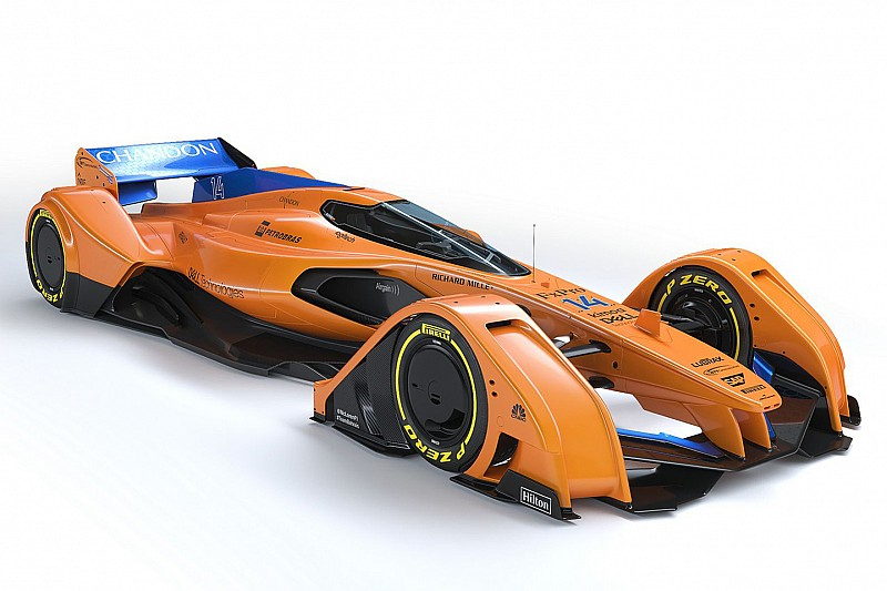 Галерея: McLaren оновила свою машину Ф1 майбутнього