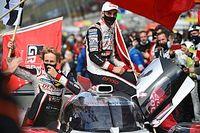 """Trio da Toyota celebra """"grande trabalho"""" e superação dos problemas para vencer em Le Mans"""