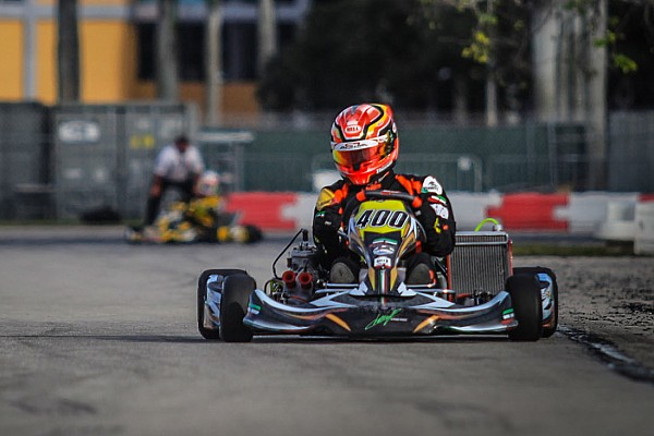 Kart 190 competitors strap on the Vortex power plants in near perfect conditions