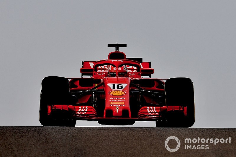 Leclerc leads second morning of Abu Dhabi test
