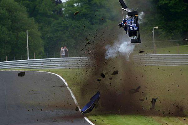 BF3 Vaidyanathan escapes horror crash at Oulton Park