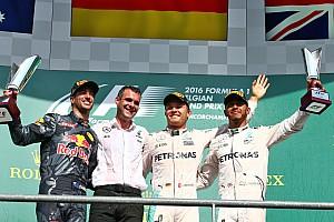 """F1 レースレポート F1ベルギーGP決勝:波乱のレースでロズベルグが完勝。ハミルトン""""18台抜き""""の3位"""