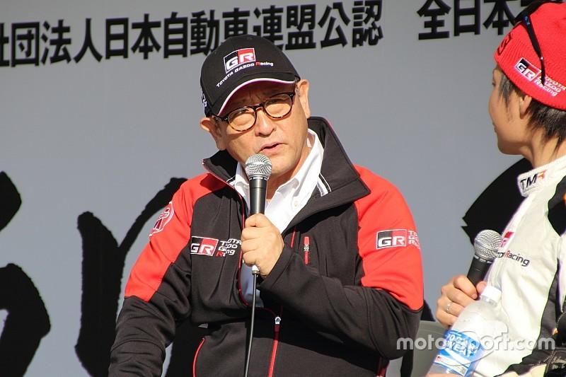 トヨタ社長「景気に影響されないモータースポーツ活動を根付かせる」
