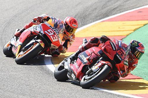 Aragon MotoGP: Bagnaia fends off Marquez in tense duel to win