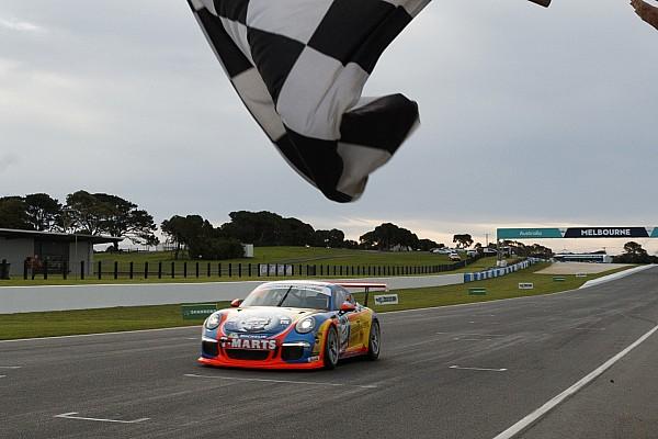 Porsche Race report McBride/Thomas win first leg of Carrera Cup Pro-Am