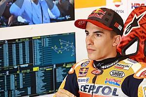 MotoGP Reporte de pruebas Márquez quedó adelante en un warm up marcado por la lluvia y las caídas