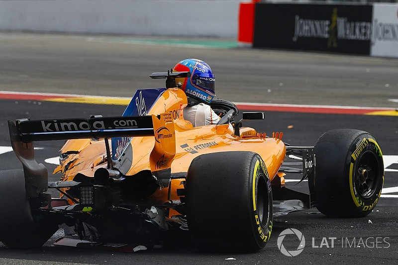 Alonso short on spare car parts after Spa crash