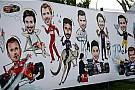 Látványos karikatúrákon az F1-es pilóták