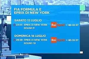 Formula E Ultime notizie Ecco la programmazione TV del doppio ePrix di New York