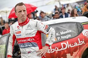 WRC BRÉKING Drámai befutó egy hülye hiba miatt: Meeke és a Citroen is megkönnyebbült