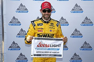 NASCAR Cup Qualifying report Kenseth scores 20th career pole in JGR front row lockout at Richmond