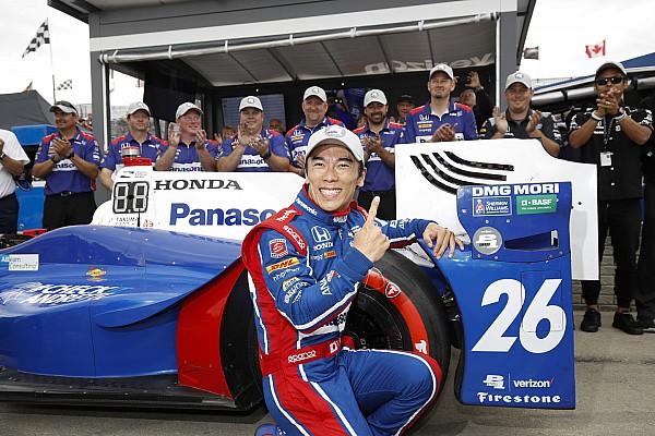 Sato centra la pole per Gara 2 e regala l'intera prima fila al team Andretti