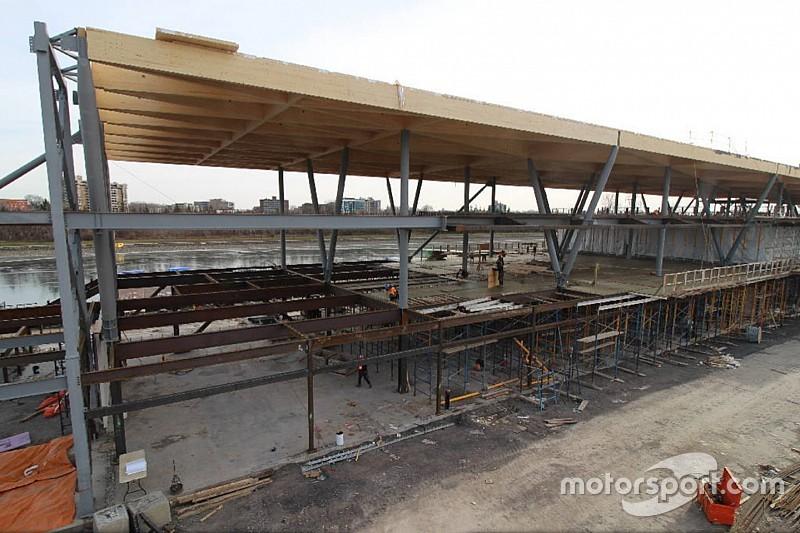 У Монреалі триває будівництво нового паддоку траси Формули 1