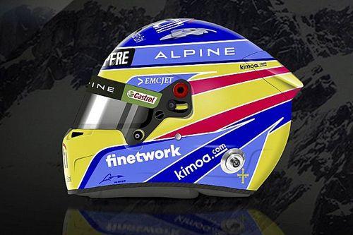 Alonso dévoile un casque Alpine semblable au Renault de 2006