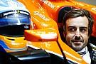 Alonso en pruebas de su asiento para 2018