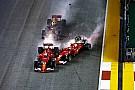 Secuencia del accidente que puede dejar a Vettel sin Mundial