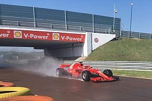 F1 test Pirelli: per Giovinazzi 124 giri sulla Ferrari con le intermedie