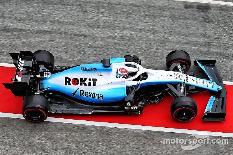 Машина Williams впервые выехала на трассу