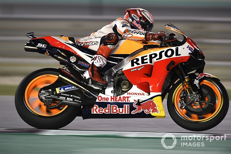 Qatar MotoGP: Marquez tops FP2, Lorenzo and Rossi facing Q1