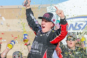 John Hunter Nemechek earns first Xfinity win in wild Kansas race