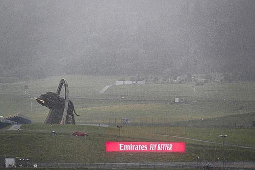 Slecht weer teistert Spielberg, F1-kwalificatie mogelijk uitgesteld