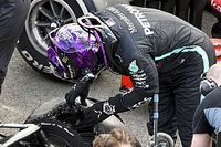 Waarom Hamilton de laatste ronde mocht afmaken op lekke band