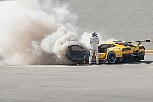 IMSA Breaking news Fassler escapes unhurt after Corvette fire at Daytona