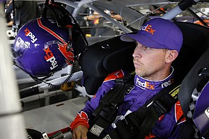 NASCAR Cup Practice report Denny Hamlin leads opening Cup practice at Indianapolis