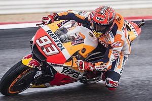 EL1 - Márquez en tête sur piste humide