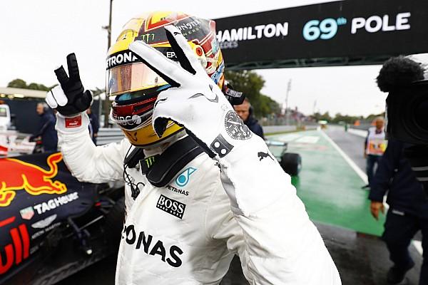 意大利大奖赛排位赛:大雨难阻汉密尔顿打破杆位纪录